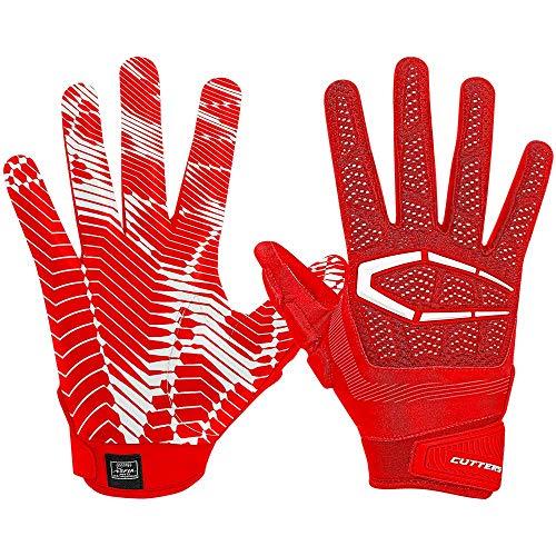 Cutters Gamer Fußball-Handschuh für Lineman und Allzweck-Spieler, gepolstert, für Jugendliche und Erwachsene, 1 Paar