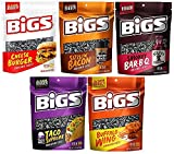 7. BIGS Sunflower Seed Variety, Cheese Burger, Sizzlin Bacon, Smokey BBQ, Taco Supreme, and Buffalo Wing, 5.35 Ounce Bags (Pack of 5) - Packed in MYD Box with Bag Clip