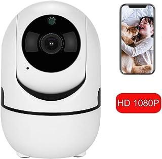 Cámara IP HD de 1080p con Motion Tracker/Audio bidireccional/Visión Nocturna/APLICACIÓN Control Remoto Cámara Domo de Seguridad para Interiores con 2.4GHz WiFi