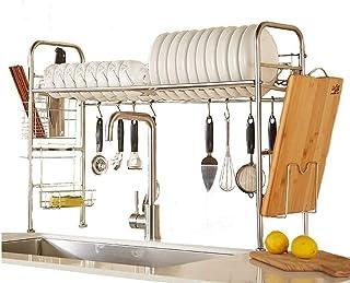 DJSMsnj Rangement de Cuisine, sécheuse sur évier à Vaisselle, Support en Acier Inoxydable avec égouttoir, Organisateur de ...