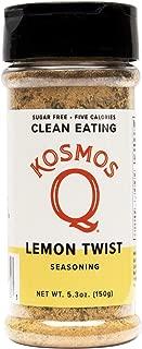 Kosmos Q Lemon Twist Seasoning | Lemon Pepper Spice Mix | All-Natural Cooking Herbs & Spices | Paleo & Keto Diet Friendly Flavor Blend | Sugar-Free, MSG-Free | 5 Calories | 5.3 oz. Shaker Bottle