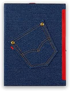 "FPlife Technology | Lockbook-Fingerprint Protected Notebook with Denim Cover(9.3""x7.2"") (Light Blue)"