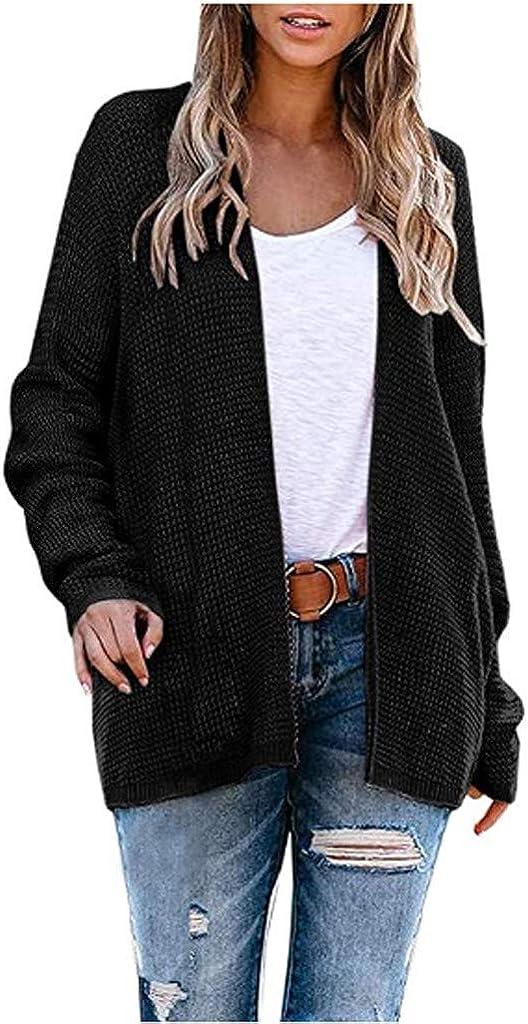 Women Winter Coat,Women's Knited Cardigans Loose Slouchy Oversized Wrap Sweaters CoatOutwear 2020