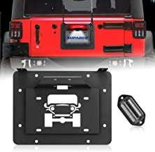 Rear License Plate Delete Plate fits Jeep Wrangler JK 2007-2017 Rukse License Plate Relocation Plate Covers OEM License Plate Holes When Plate Is Relocated