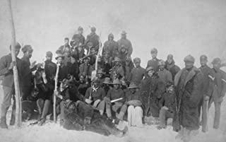 Black Buffalo Soldiers of the 25th Infantry - Vintage Photograph (9x12 Fine Art Print, Home Wall Decor Artwork Poster)