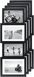 Malden International Designs Collage Picture Frame, 4 Option, 2-4x6 & 2-5x7, 4 Pack, Black