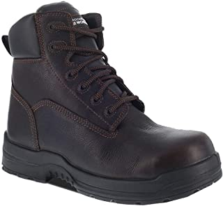Rockport Mens Brown Leather Work Boots CT More Energy Lace-Up