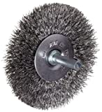 Weiler 36011 Vortec Pro, 3' Diameter, 0.014' Wire Size, Carbon Steel Bristles, Crimped Wire Wheel Brush
