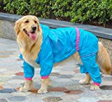 Easting Dog Hooded Rain Slicker Waterproof Jacket Dog Rain Poncho Rain Coat for Medium to Large Dogs...
