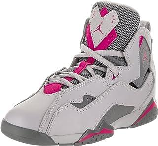 6650bb95c6e4 Jordan Air True Flight Preschool Wolf Grey Deadly Pink Cool Grey 12 M US  Little Kid
