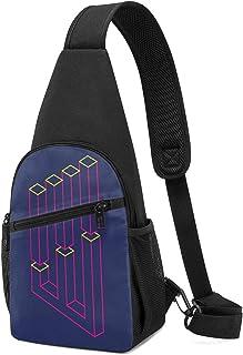 PGTry Impossible Shapes Columns Sling Bag ligero, mochila de hombro, mochila para el pecho, bolsa cruzada, bolsas de viaje...