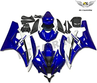 NT FAIRING Glossy Blue White Injection Mold Fairing Fit for Yamaha 2006 2007 YZF R6 New Painted Kit ABS Plastic Motorcycle Bodywork Aftermarket