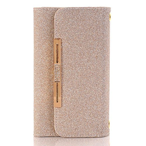 TechCode Best iPhone Wallet Case 6/6S Plus, Women Color PU Leather Stand Cover Flip Lady Multi Envelope Package Handbag Clutch Wallet Case with Cards Slots Card Holder(iPhone 6/6S Plus,Rose Gold)