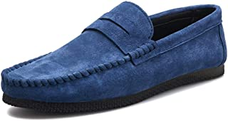 HBSSEE Loafer for Men Boat Moccasins Slip Ons Leather Solid Color Soft Casual Business Lightweight Low Top Breathable