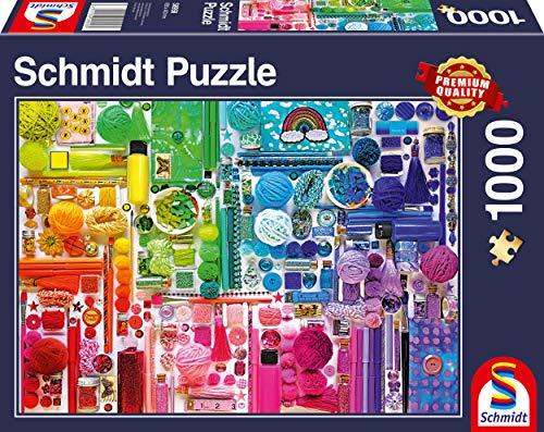 Schmidt Spiele 58958 Regenbogenfarben, 1.000 Teile Puzzle