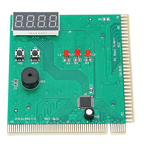 VBESTLIFE 4-stellige Karte PC Analyzer Computer Diagnose Mainboard Post Tester Diagnosekarte für PCI 0026 ISA