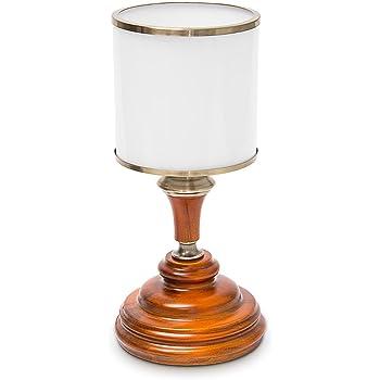 Relaxdays 10018912 Lampe de table Vintage avec abat jour en