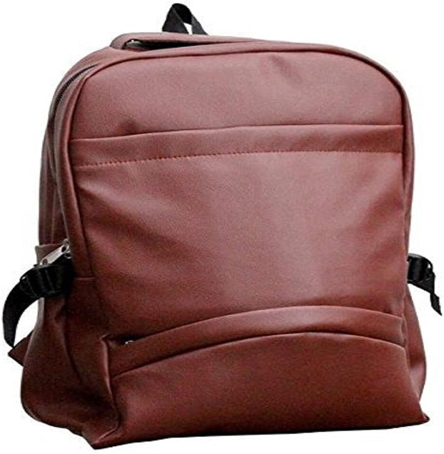 TUZECH School College Office PU Leather Backpac
