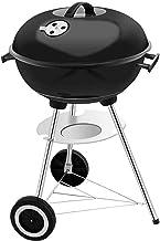 Barbacoa portátil para el hogar, parrilla de carbón para exteriores con tapa (5 ~ 7 personas) Barbacoas (color: negro)