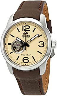 Men's 'Scout' Japanese Automatic Stainless Steel and Leather Sport Watch, Color:Brown (Model: FDB0C005Y0)