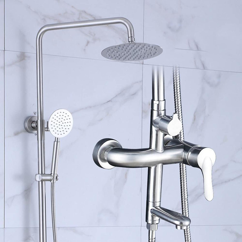 Aoligei 304 Stainless steel shower showerhead set sprinkler head wall-hung hot shower nozzle