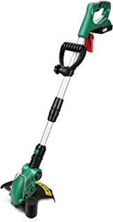 DEKO Cordless String Trimmer with 20V Lithium 2000mAh Battery Pack Plastic Blade Lawn Mower Cordless Grass Trimmer Garden Tools