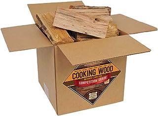 Smoak Firewood Cooking Wood Logs - USDA Certified Kiln Dried (8inch Pieces, 25-30lbs - White Oak)