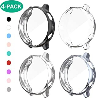 4 Pack Samsung Galaxy Watch Active 2 40mm Screen Protector Case,JZK Soft Slim TPU All Around Protective Shell Anti-Scratch Case Bumper Cover Case for Samsung Galaxy Active 2 40mm Accessories