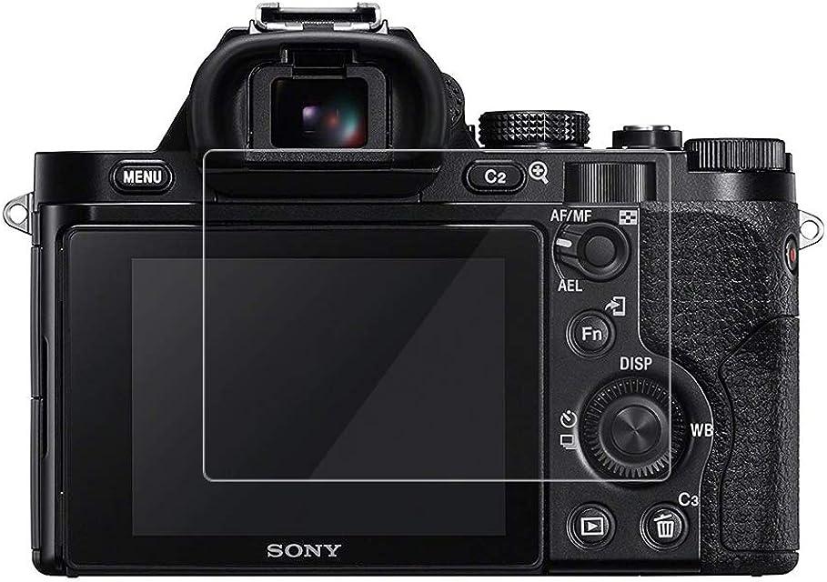 kinokoo Película de Vidrio Templado para Sony A7/A7R/A7S Crystal Clear Film Protector de Pantalla Sony A7 A7R A7S sin Burbujas/antiarañazos (Paquete de 2)