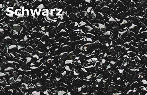 Steinteppich Aussenbereich 25 kg NERO SCHWARZ 2-2,5 m² + LF68-Bindemittel AUSSEN 1-4mm