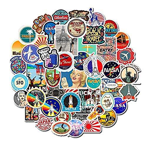YRBB 50 stuks in retrostijl stickers graffiti, graffiti, grappige stickers voor doe-het-zelvers op koffer, bagage, fiets, laptop, skateboard auto