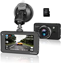 G-Senso Dual Dash Cam with 5 IPS Touch Screen and 1080P FHD 180 Wide-Angle 360 Degrees Panoramic Dashboard Camera Include Trochilus 32G Dash Cam,Car Cameras with Night Vision Front and Rear