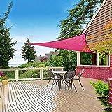 Toldos, Triángulo, Toldo De Velas De Sombra, Proteccion Solar Durable Cubierta De Patio Al Aire Libre Kit De Toldo Pérgola ZHANGXU (Color : Pink, Size : 3x4x5m)