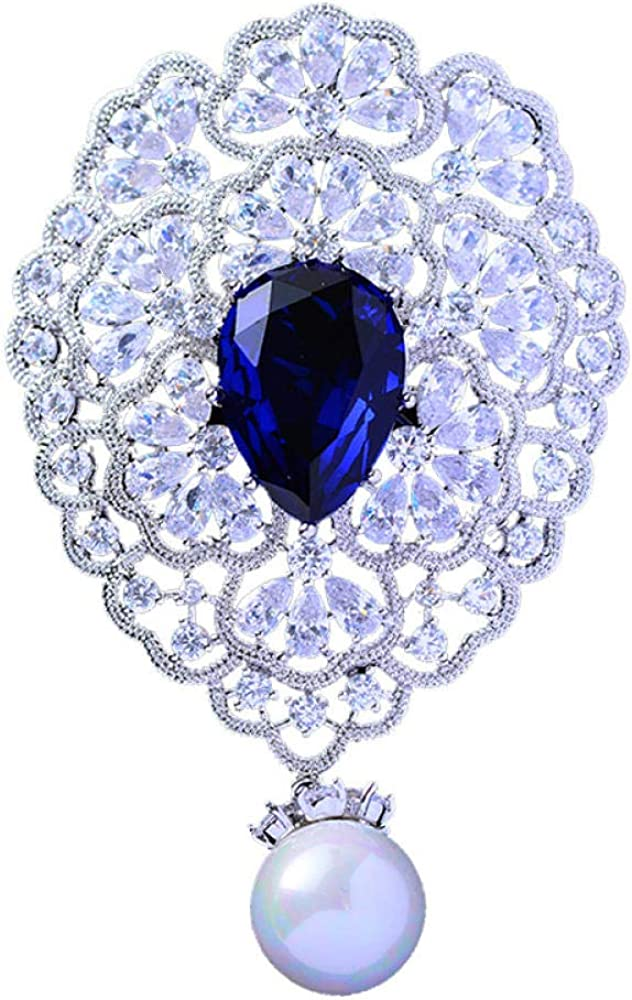 Men's and Translated Women's Cheap Brooches Silver Micro-Inlaid Elegant Te Zircon