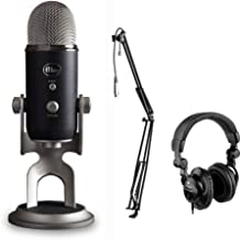 Blue Yeti Pro Studio All-In-One Pro Studio Vocal System with HPC-A30 Studio Monitor Headphones & MBS5000 Boom Arm with XLR Cable Kit