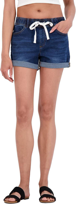 dollhouse Women's Shorts - Stretch Denim Pull On Jeans Shorts