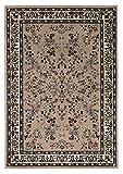 Un tappeto in tessuto con un classico e orientale che si adatta a ogni ambiente. Il design con i diversi ornamenti e il bordo colorato rende il tappeto molto elegante e valorizza ogni stanza in cui si trova questo orientale. Il pelo corto del tappeto...