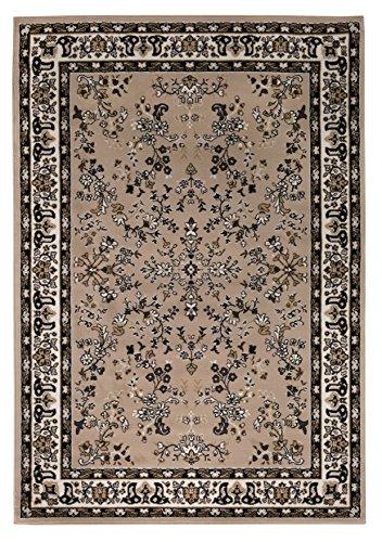 Andiamo Tappeto orientale classico – Ornamenti – Tappeto a pelo corto – 120 x 170 cm beige