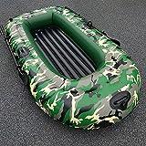 Fnho Bote Inflable Balsa de,Engrosado Bote Inflable de,Bote de Aire al Aire Libre, Barco a la Deriva Bote de Goma-Camuflaje_1.98 x 1.22cm
