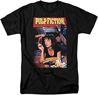 Pulp Fiction Movie Poster Uma Thurman T Shirt & Stickers
