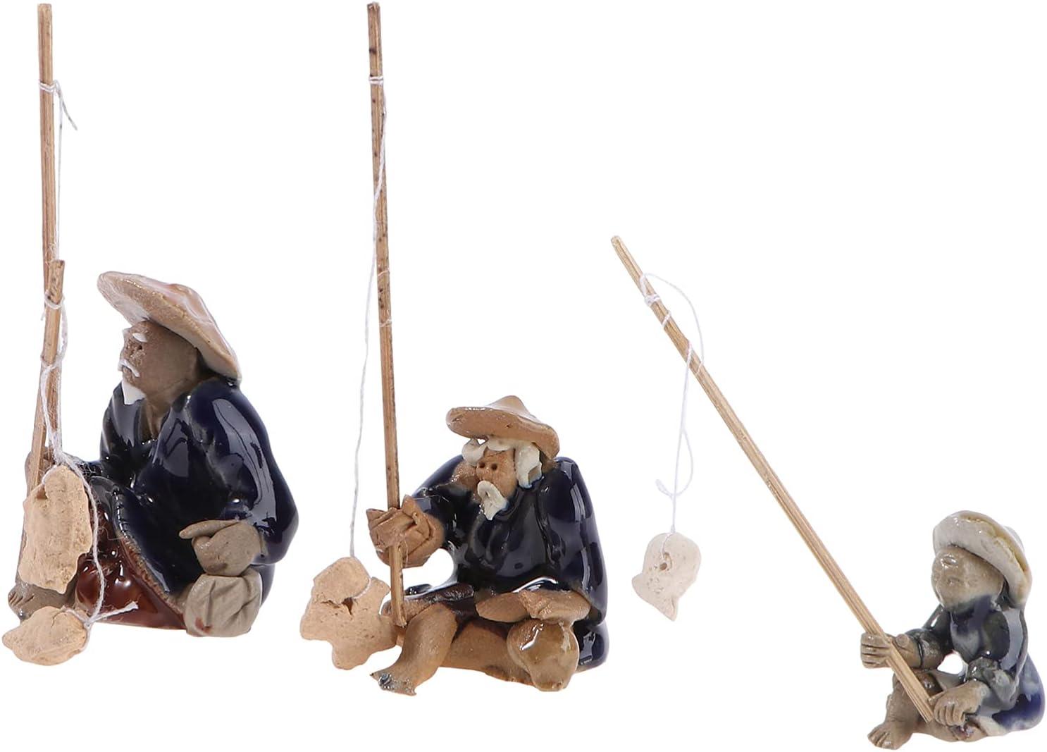 DOITOOL Shipping 35% OFF included 3pcs Miniature Fairy Garden Figurine Fisherman Old Aquar