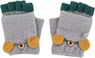Active Fox Cartoon Hang Neck Children Gloves Winter Thicken Warm Chrismas Xmas Gift Little Fox Cartoon Hanging Neck Child Gloves Easy To Use Apparel Accessories