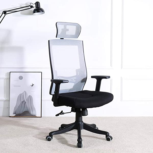 BERLMAN Ergonomic High Back Mesh Office Chair With Adjustable Armrest Lumbar Support Headrest Recliner Swivel Task Desk Chair Computer Chair Guest Chairs Reception Chairs Black2