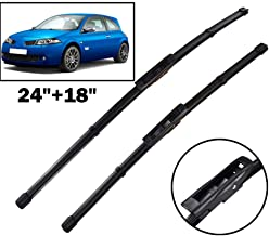 HCDSWSN Front Wiper Blades,for Renault Megane 2 MK2 2006 2007 2008 Windshield Windscreen Front Window 24