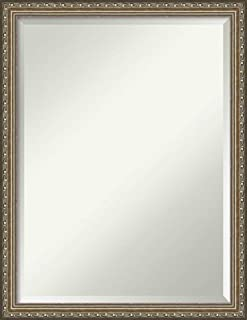 Amanti Art Framed Mirrors for Wall | Parisian Silver Mirror for Wall | Solid Wood Wall Mirrors | Medium Wall Mirror 20.25 x 26.25