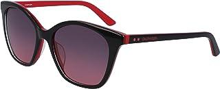 نظارة شمسية للنساء من كالفن كلاين، احمر واسود، 54 ملم - CK19505S