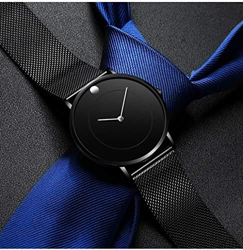 Voigoo Mens Ultra Thin Uhren Luxuxgeschäft Quarz-Uhr-Mann-dünn militärisches wasserdichtes Kleid Mesh-Band-Armbanduhr zegarek Meski