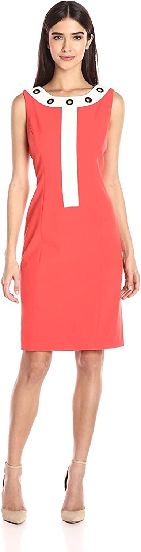 NINE WEST Women's Color Block Dress Neckline On El Paso New York Mall Mall Jewel Grommets W