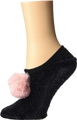 Chenille Slipper Socks w/ Pom