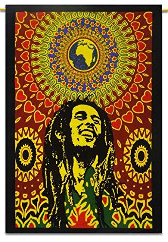 Bob Marley Cotton Indian Wandbehang Tapisserie Poster Größe Muticolour Werfen 42x30 Zoll